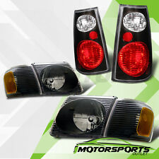 2001 2002 2003 2004 2005 Ford Explorer Sport Trac Black headlights+Tail Lamps