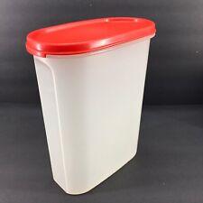 Tupperware Modular Mates Oval #4 (9 3/4 cup) Dark Orange-Red Seal