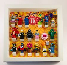 Lego Minifigures Display Case Frame Series 18 Minifigs figures 40 years