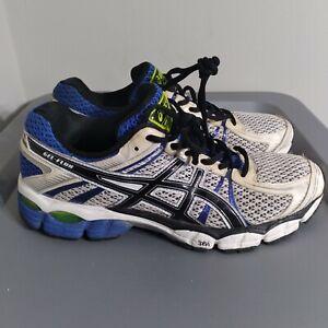 Asics Gel-Flux Men's Size 10 Running Shoes White/Blue/Green Athletic Sneakers