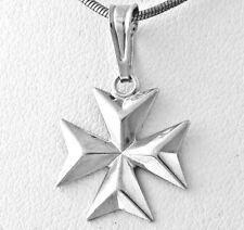 SALE Knights of Malta MALTESE CROSS Jewelry Solid Sterling Silver 925 Pendant