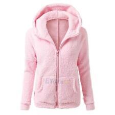 Womens Winter Warm Hooded Fleece Parka Jacket Coat Ladies Tops Overcoat Outwear