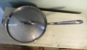 All Clad Copper Core 3 Quart Saute Pan / Skillet w/ Lid and Loop