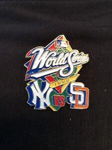 1998 NEW YORK YANKEES VS. SAN DIEGO PADRES WORLD SERIES PIN - EX COND