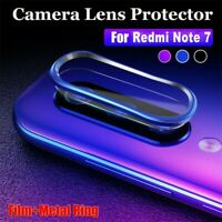 For Xiaomi Redmi Note 7 Back Camera Protector Lens Case Ring Cover + Glass Film