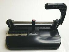 Swingline Model 350400 Heavy Duty Black Adjustable 3 Hole Punch Metal Desktop