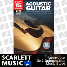 First 15 Lessons Acoustic Guitar Book with Audio and Video *NEW*