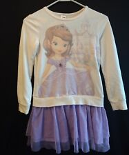 Disney Princess Sofia the First Purple Sweater Dress Jumping Beans Girls Size 7