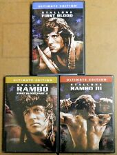 FIRST BLOOD RAMBO Movie DVD Set, 3 Movies on 3 Disc