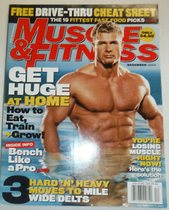 Muscle & Fitness Magazine You're Losing Muscle NO ML December 2004 120314R