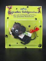 Originelles Geldgeschenk Maus Mouse aus Filz schwarz,Geburtstag Glückwunsch
