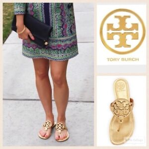 Tory Burch Miller Sandals Gold Size 6.5