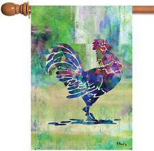 NEW Toland - Fowl Call - Colorful Rooster Crow Chicken Hen House Flag