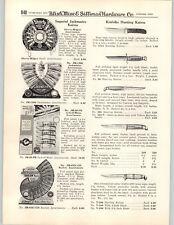 1950 PAPER AD 3 PG Kinfolks Hunting Sheath Knife Knives Zip Store Display Hammer