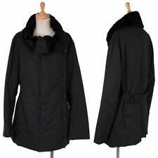 (SALE) ISSEY MIYAKE Collar bore polyester batting coat Size 2(K-29190)