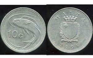 MALTE 10 cents 1998     ANM   ( bis )