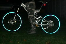 """REFLECTIVE CYCLE bike WHEEL RIM TAPE/STICKERS 24"""" - 26"""" in 6 COLOURS"""