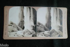 STB663 Niagara Falls Great Icicle chute d'eau stereoview photo STEREO albumen