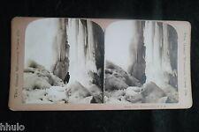 STB663 Niagara Falls Great Icicle chute d'eau stereoview photo STEREO albumen