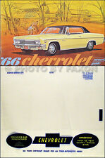 1966 Chevy Owner Manual Package Impala SS Bel Air Caprice Biscayne Chevrolet Car