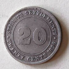 20 cents S/settlement 1896 silver coin # 219
