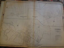 1906 Long Island Inwood Manhasset Thomaston Nassau Atlas Map LIRR
