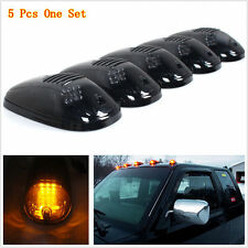 5pcs Cab Roof Top Marker Running Clearance Light Smoked Black 9 LED Dodge Ram
