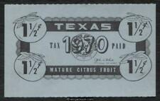 Texas Citrus Fruit Revenue Tx Cf78 mint, Vf