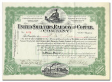United Smelters Railway and Copper Company Stock Certificate