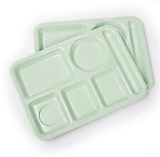 Vintage 1960s Mint Green Lunch Trays Great For Home Schooling