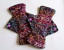 Batik Tela Lavable sanitario Pad X 1, regular, Cojín de tela menstrual, poste libre