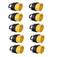 10 Female Extension Cord Replacement Electrical End Plugs 3-Wire