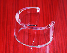 10 pc Wholesale Jewelry Lot Clear Transparent Lucite Cuff bracelet.One Size!
