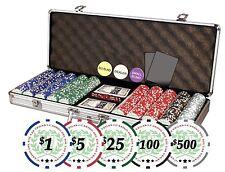 Da Vinci Professional Casino Del Sol Poker Chips Set with Case Set of 500,