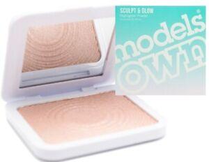 Models Own Sculpt & Glow Highlighter Powder 10g -  01 Golden Sand - Boxed