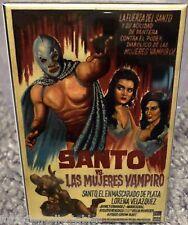 """Santo vs Las Mujeres Vampiro Movie Poster 2"""" x 3"""" Refrigerator Locker MAGNET"""