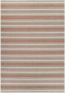 Marbella Rug, 2 by 3-Feet, Coral/Ivory/Pewter