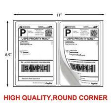 200 Shipping Labels 85 X 55 Half Sheets Round Corner 2 Label Per Sheet