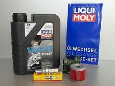 Wartungs - Set KSR-Moto Code Generic GRS TW Worx 125 mit Oelfilter Zündkerze Öl