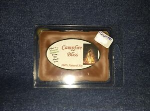 **NEW** Hand Poured Autumn Scented Soy Candles Tarts & Votives - Campfire Bliss