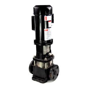 """Dayton 5UWJ1 Vertical Multi-Stage Booster Pump 1HP 115/230V 1-1/4"""" Inlet/Outlet"""