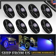 Underglow Blue Led Rock Lights Neon 8 Pods Led Light For Off Road Ute Atv Boat