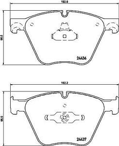 Hella Pagid Front Brake Pads fits BMW X5 F15, F85 M50d