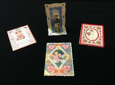 Vintage Valentine, Fold Down, Stand Up, Germany, USA Lot of 4