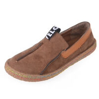 Comfy Womens Round Toe Loafers Flat Suede Leather Shoes Love Soft Lazy Shoes New