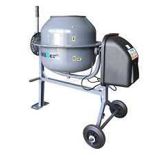 Switzer Electric Cement Mixer – Portable Mortar Plaster Concrete Drum – 250W 70L