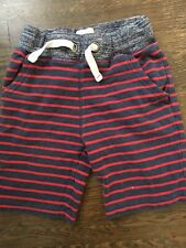 Mini Boden Boys Shorts 6 Elastic Waist Striped Baggies French Terry Comfortable