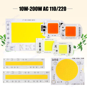 LED Chip COB Bulb 100W 50W 20W 10W Plant Grow Light Smart IC Driver Floodlights