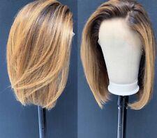 """10""""'lace front bob wig 100% Human Hair 150% Density"""