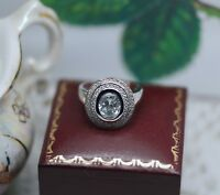 Art Deco Vintage Jewelry Gold Ring White Sapphires Antique Jewellery